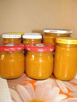Фото рецепт консервирования пюре из любых фруктов БЕЗ САХАРА! Понадобятся только фрукты и баночка:)
