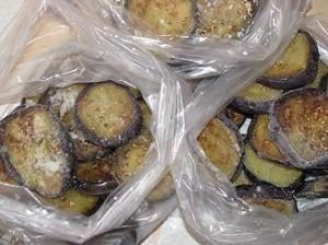 Заморозить жареные баклажаны