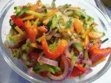 Восточный салат на пару