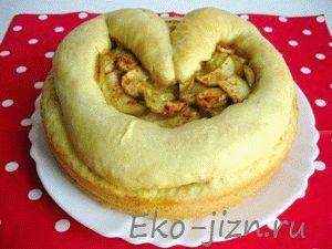 Вкусный пирог-сердечко