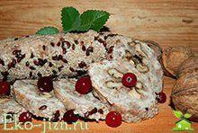 Оригинальный рецепт куриной колбасы с орехами