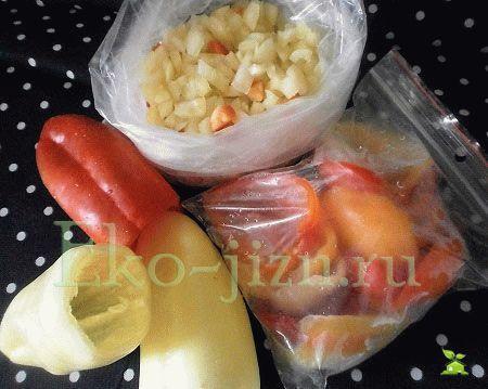 Заморозить перец фото-рецепт