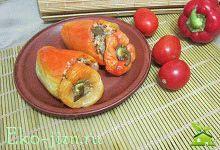 Перец, фаршированный овощами: вегетарианский рецепт