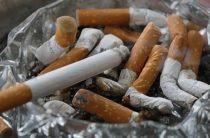пепельница с сигаретами
